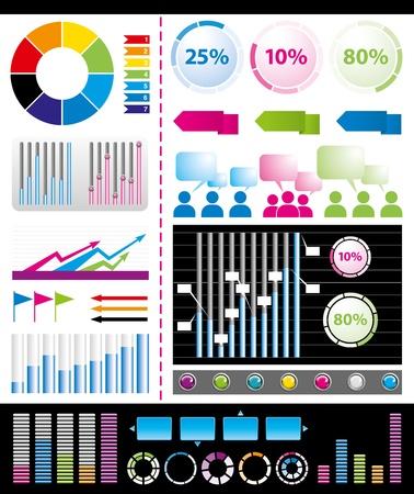 graph: gro�e Menge von infogrsphic Elementen n�tzlich f�r alle Visualisierungen Illustration