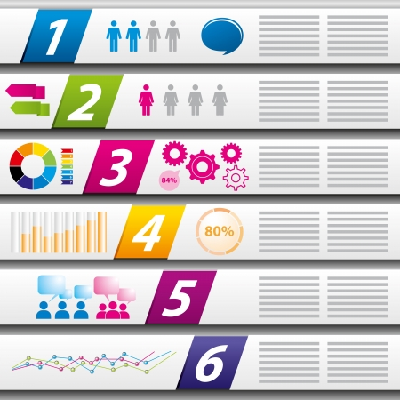 background template with numbers white paper Stock Vector - 17477647