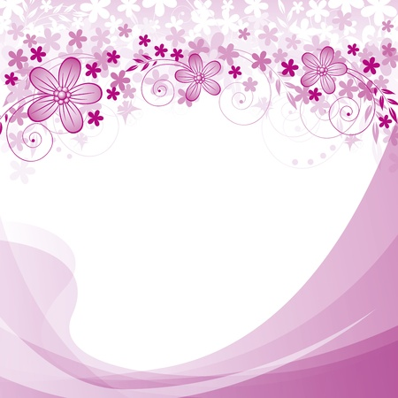 Abstract background with flowers and spase for your text Vector