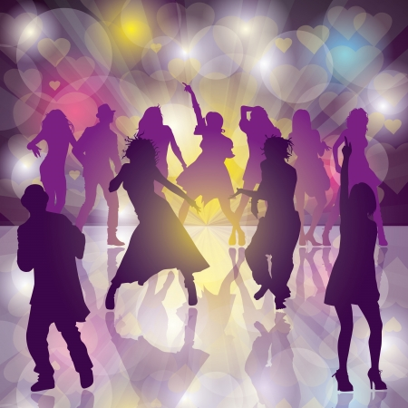 background with dancing people Stock Vector - 17644414