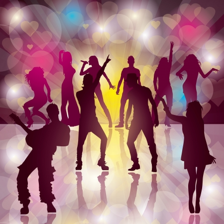 background with dancing people Stock Vector - 17635924