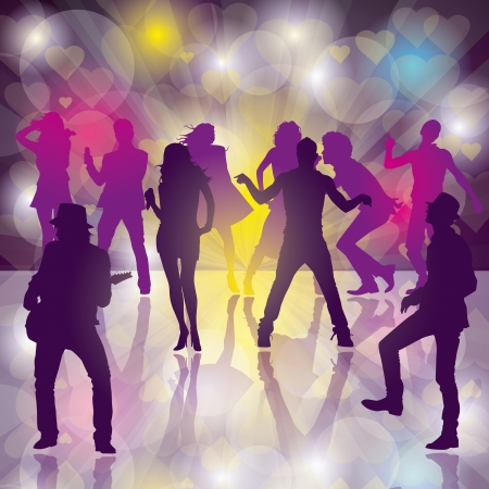 background with dancing people Stock Vector - 17635921