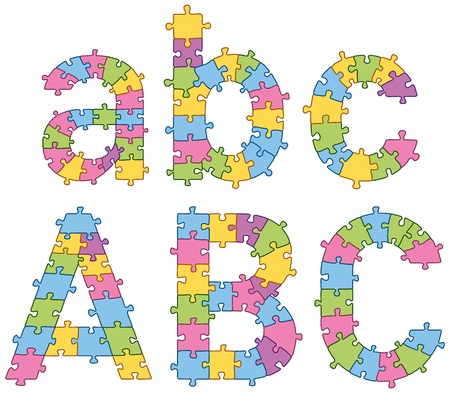 complete solution: Puzzle jigsaw letters