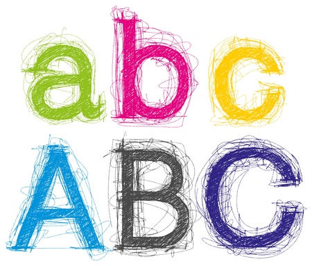 Sketch letters pencil style Vector