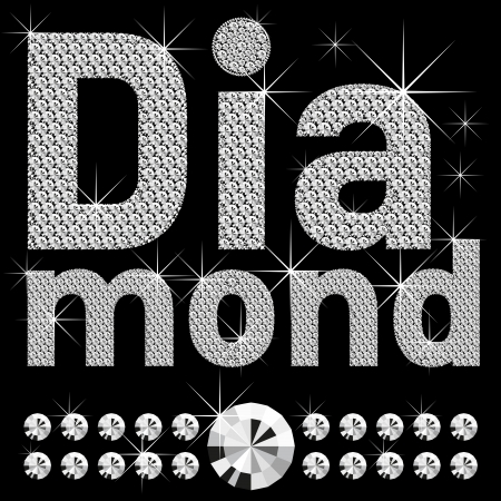 rnb: word diamond, of diamond letters big and small