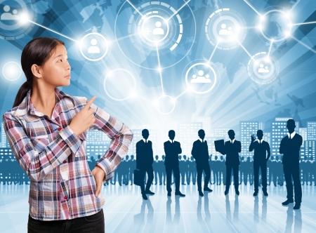 planeaci�n estrategica: HR concepto. Hombre de negocios que la elecci?n del empleado