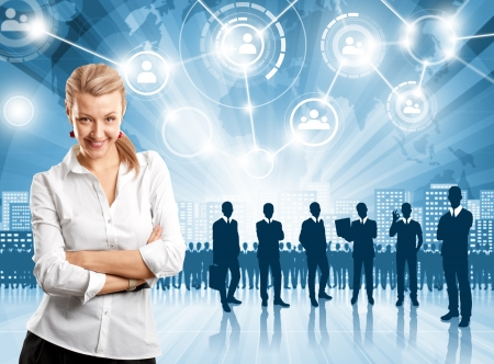 planeaci�n estrategica: HR concepto. Hombre de negocios que la elecci�n del empleado Foto de archivo