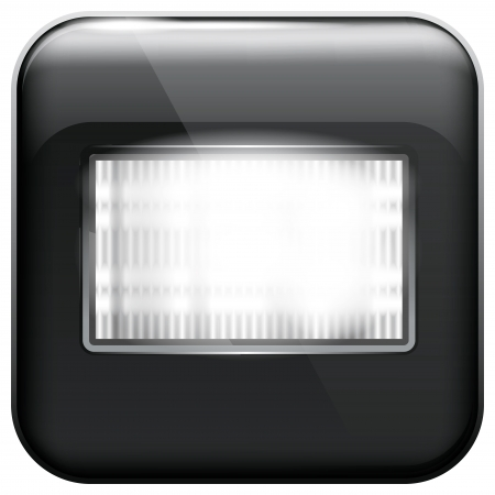 strobe light: Vector app icon with flash light for web applications