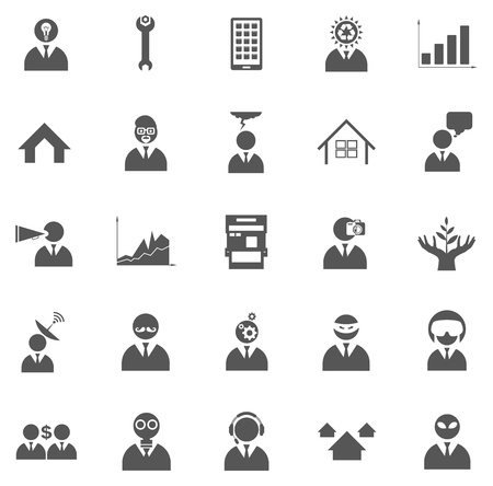 Vector set of business icons, symbols and pictograms Stock Vector - 20709899