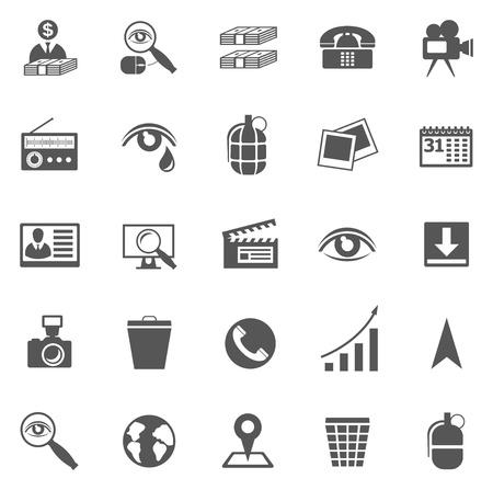 kalendarz: Wektor zestaw ikon biznesu, symbole i piktogramy