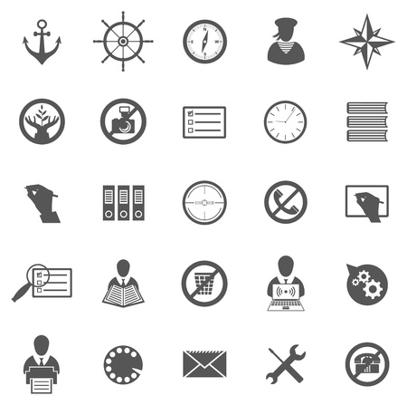 rosa dei venti: Vettore di set di icone del mondo, simboli e pittogrammi Vettoriali