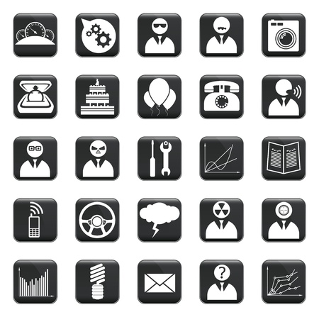 envelop: set of business icons, symbols and pictograms