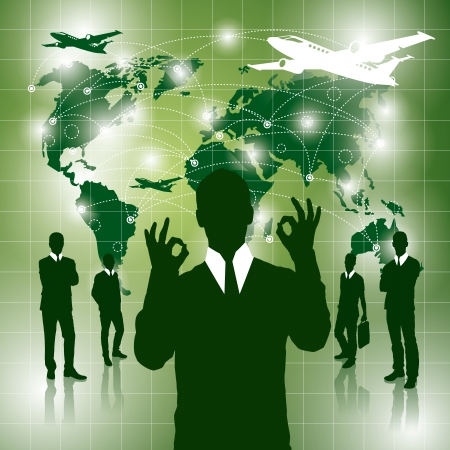 Voyage notion. Vector business background virtuel avec des mélanges. Tous les éléments sont sur des calques séparés