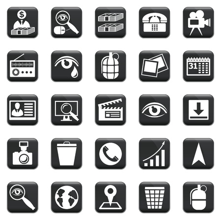 set of business icons, symbols and pictograms Vector