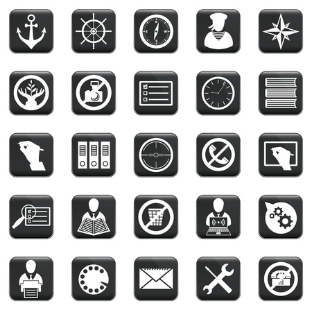 pc icon: set of business icons, symbols and pictograms