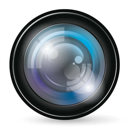 looking at camera: camera lens app icon with blends and transparents Illustration
