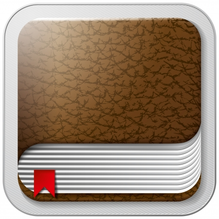 Vector app book icon for web applications. All layers well organised and easy to edit