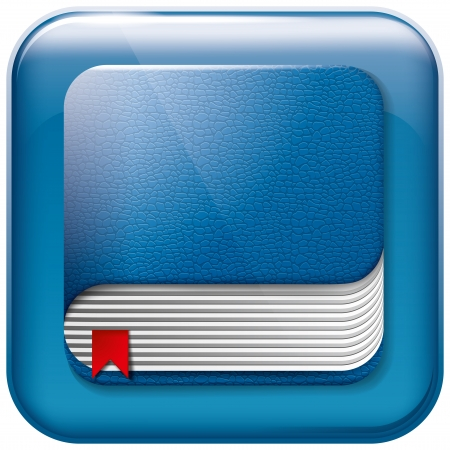 organised: Vector app book icon for web applications. All layers well organised and easy to edit