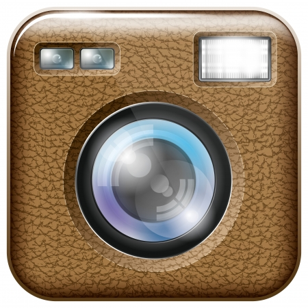 organised: Vector camera lens app icon with blends and transparents. All layers well organised and easy to edit