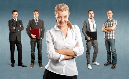 business backgrounds: Business team su sfondi diversi