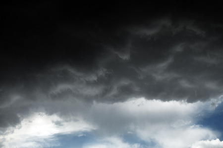 tempest: Beautiful storm sky with clouds, apocalypse like Stock Photo