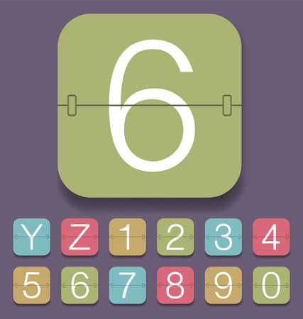 tableau: set of mechanical scoreboard alphabet