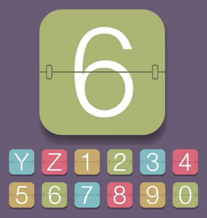 set of mechanical scoreboard alphabet