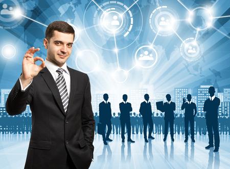 HR concept. Business man choosing the employee Stock Photo - 30829513