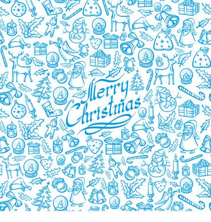 Naadloze Vector Kerstmis en Nieuwjaar achtergrond. U kunt gemakkelijk vermenigvuldigen Stock Illustratie
