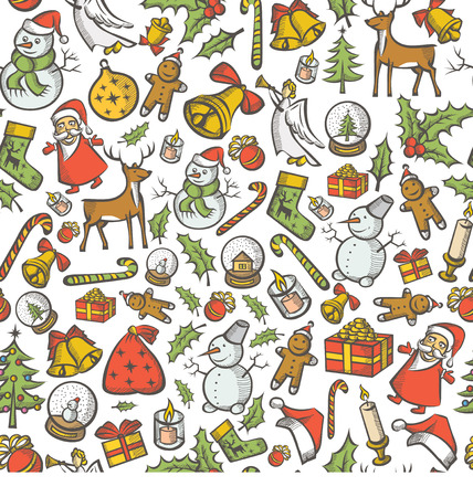 Seamless Vector Christmas and New Year background. You can easy multiply it Иллюстрация