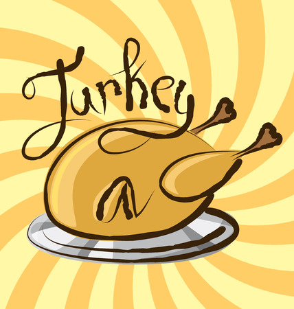 aroma: vector turkey with calligraphic inscription and aroma
