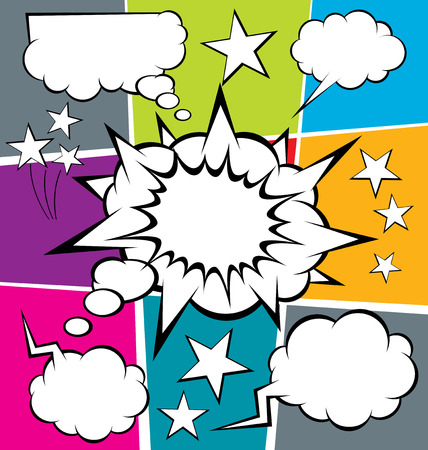 vector set of comics style speech and thought bubbles Vector