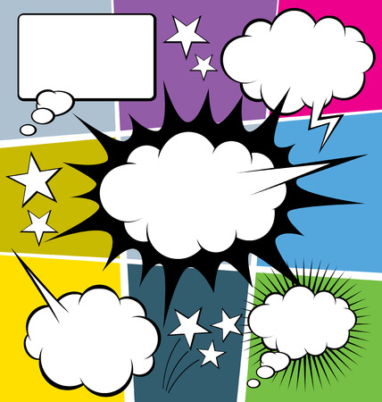 talk balloon: vector set of comics style speech and thought bubbles