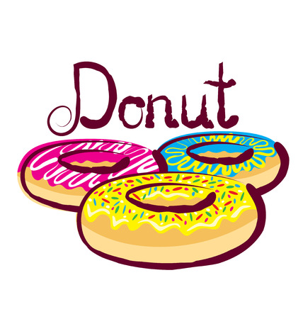 sinker: vector donut with calligraphic inscription Illustration