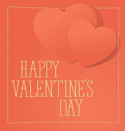 happy valentines day: vector card with heart for valentines day