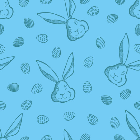 Vector Happy Easter concept. Illustration of seamless pattern with easter eggs Illustration