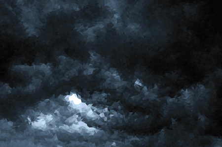 Vector polygonal beautiful storm sky with clouds, apocalypse sky