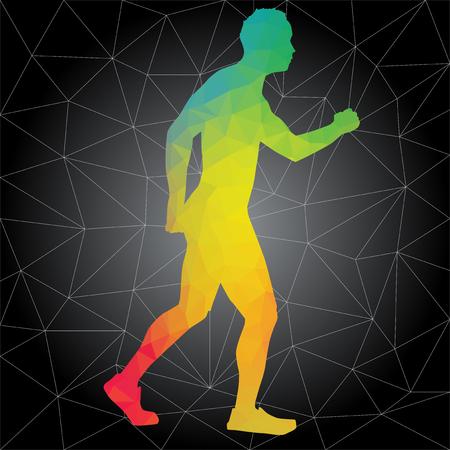 Crossfit concept. Vector silhouetten van mensen die fitness- en crossfit-trainingen doen in veel verschillende posities. Actief en gezond leven concept