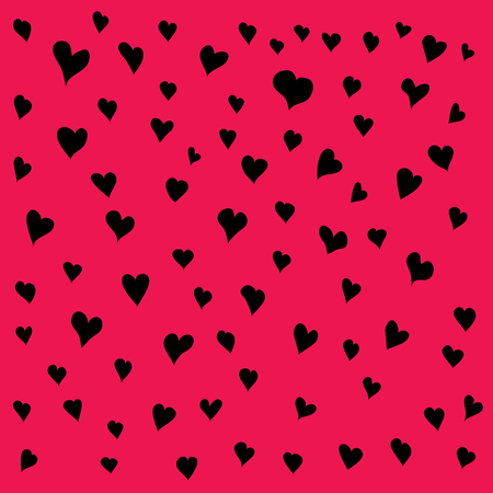 Vector Valentines Day Greeting Card. Abstract Love Illustration. Love concept background with hearts