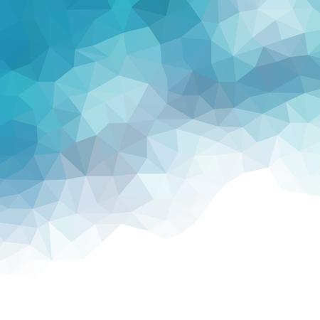 Water poly background. Vector Polygon Abstract modern Polygonal Geometric Triangle Background. Modern low poly abstract halftone triangular background Ilustração Vetorial