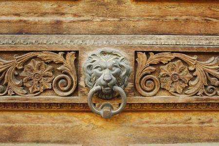 doorhandle: lion Stock Photo