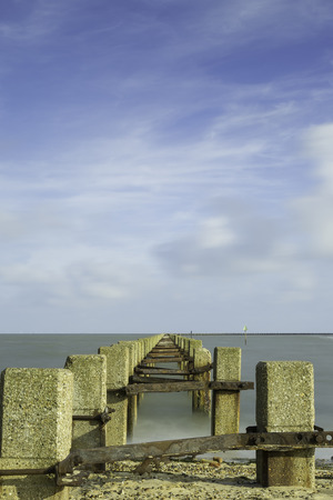 groynes: groynes jutting out into the sea