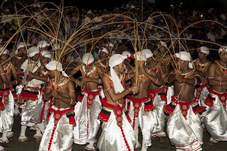 kandy: Kandy, Sri Lanka - August 27, 2015: Esala Perahera: the buddhist festival in Kandy, Sri Lanka, 2015. Editorial