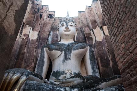 chum: The big image of Buddha, in Sri Chum temple, the Sukhothai Historic Park, Thailand