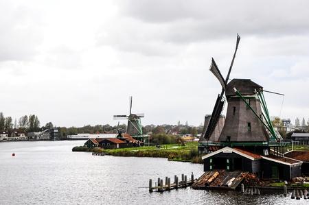 north holland: Historic old windmills ,Zaan Schan, Netherlands