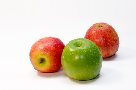 Red and Green Apples on white background Stock Photo - 13917205