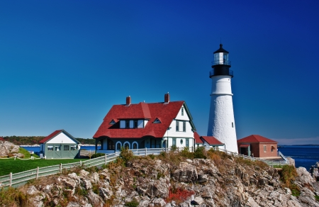 Portland Head Lighthouse in Cape Elizabeth, Maine photo
