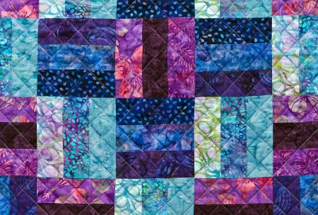 Colorful quilting pattern