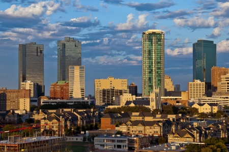Cityscape of Fort Worth Texas in early evening light Stock Photo - 14662791