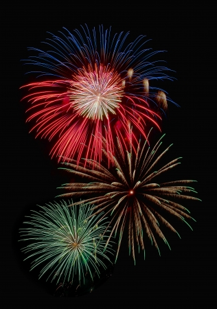 Colorful fireworks display Stock Photo - 14662792